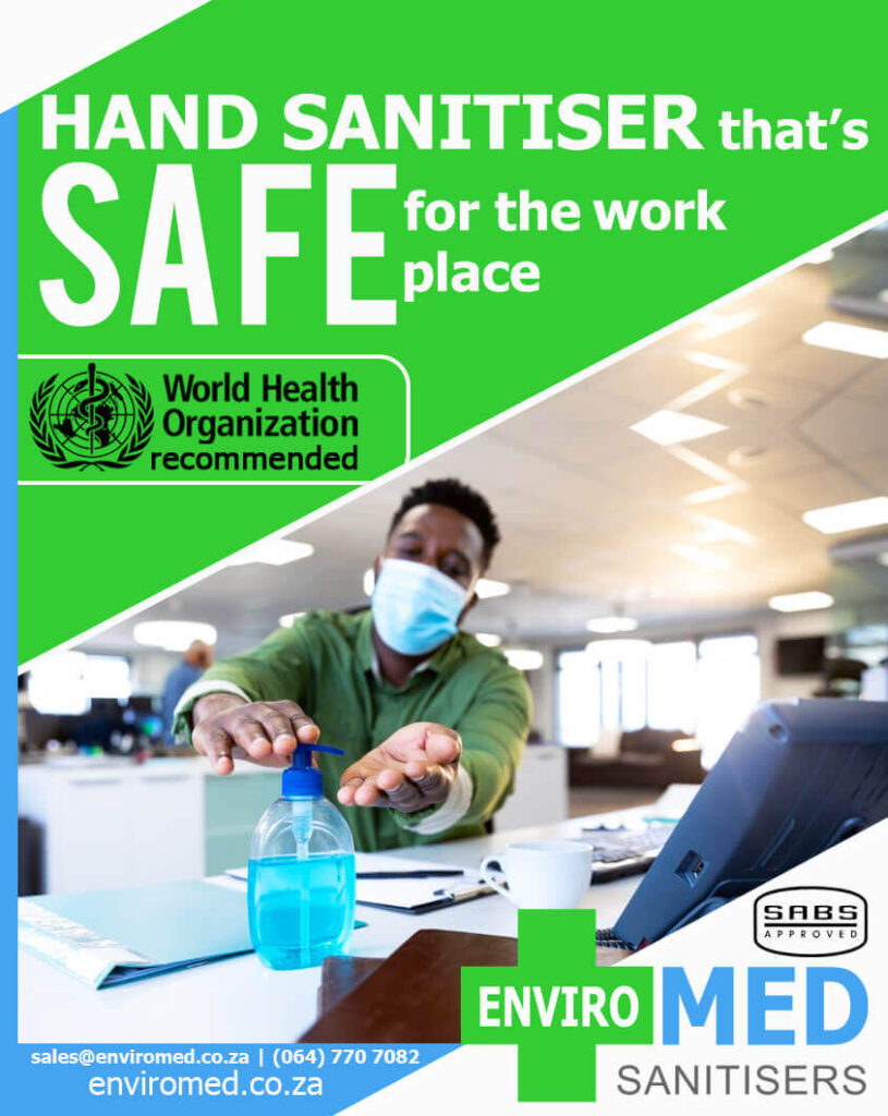 Hand sanitiser that's SAFE for the workplace